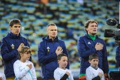 De Oekraïne en Slovenië UEFA-de beslissingsmatch van EURO 2016 Royalty-vrije Stock Afbeeldingen