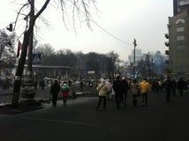 2014 de Oekraïne Kiev Euromaydan Stock Afbeelding