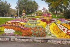 DE OEKRAÏNE, KIEV: op Spivoche Pool, een tentoonstelling van bloemen Stock Foto's