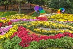 DE OEKRAÏNE, KIEV: op Spivoche Pool, een tentoonstelling van bloemen Stock Afbeelding
