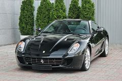 De Oekraïne, Kiev; 2 september, 2013; Ferrari 599 GTB Fiorano stock afbeeldingen