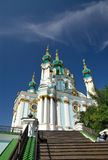 De Oekraïne. Kiev. Van Andreevskaya (Heilige Andrew) de Kerk stock foto's