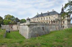 De Oekraïne, Lviv-gebied, het kasteel in Podgortsy, 1445 jaar Stock Afbeelding
