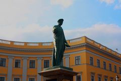 De Oekraïne, monument Duke de Richelieu stock foto's