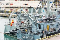 De Oekraïne, Odesa - Maart, 18, 2017: In de haven militaire schepen van Odessa royalty-vrije stock fotografie