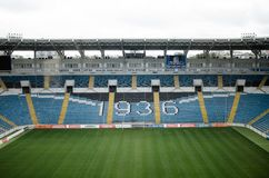 De Oekraïne, Odessa 24 september, 2017 Chernomoretsstadion royalty-vrije stock fotografie