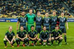 De Oekraïne versus Wales Stock Afbeeldingen