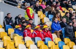 De Oekraïne versus Wales Royalty-vrije Stock Foto