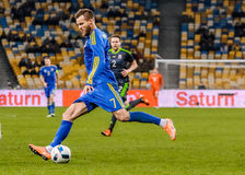 De Oekraïne versus Wales Royalty-vrije Stock Afbeeldingen