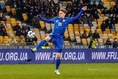 De Oekraïne versus Wales Stock Foto's