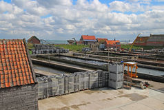 De oester van Yerseke het Nederland van het visserijlandbouwbedrijf Stock Foto's