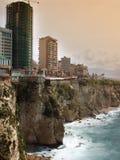 De oever van Beiroet - Libanon stock foto