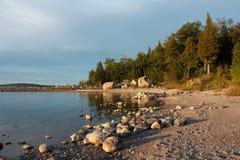 De oever van Huron van het meer Stock Foto