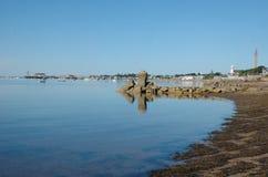 De oever van Provincetownmassachusetts tijdens de zomer Stock Afbeelding