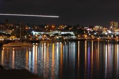 De oever van San Diego bij nacht royalty-vrije stock foto