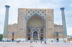 De Oezbekistaanse architectuur Royalty-vrije Stock Afbeeldingen