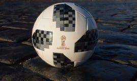 De officiële bal van de Wereldbeker 2018 van FIFA Stock Foto