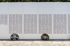 De officiële herdenkingsplaats van Israël voor gevallen militairen bij Gepantserd de Korpsenmuseum van Latrun royalty-vrije stock afbeeldingen