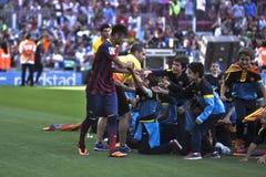 De Officiële Presentatie van Neymarjr als speler van FC Barcelona Stock Foto's