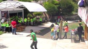 De Officiële Tent van de Bergbeklimmingswedstrijd stock videobeelden
