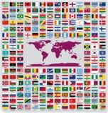 De officiële vlaggen van het land