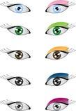 De ogen en maken omhoog vector illustratie