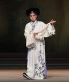 """De ogen fonkelen met de genoegen-negende handeling die kom-Kunqu Opera""""Madame Witte Snake† verzegelen Stock Afbeeldingen"""