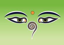 De ogen van Boedha Stock Afbeeldingen