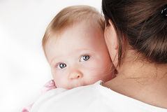 De ogen van de baby Royalty-vrije Stock Afbeeldingen