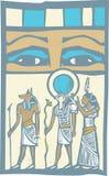 De Ogen van de hiëroglief stock illustratie