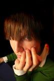 De ogen van de jongen Stock Fotografie