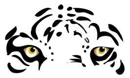 De ogen van de tijger Stock Foto's