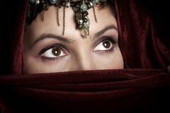 De ogen van de vrouw stock foto's