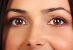 De ogen van de vrouw stock foto