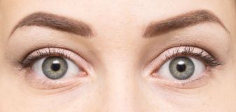 De ogen van de vrouw royalty-vrije stock afbeelding