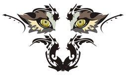 De ogen van de wolf vector illustratie