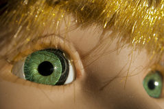 De ogen van Doll Royalty-vrije Stock Afbeelding