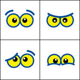 De ogen van het beeldverhaal Stock Foto