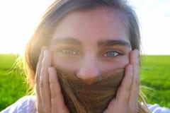 De ogen van het meisje Stock Foto
