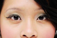 De ogen van Ladys Royalty-vrije Stock Afbeeldingen