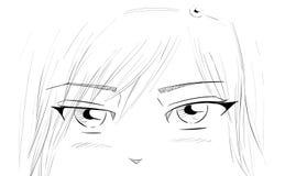 De Ogen van Manga Stock Afbeelding