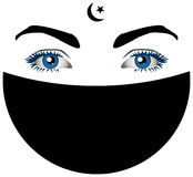 De ogen van Muslimah Royalty-vrije Stock Foto's