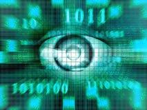 De ogen van technologie Stock Foto's