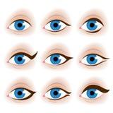 De ogen vectorillustratie van de realistische vrouw Royalty-vrije Stock Foto's