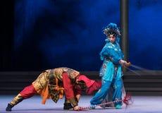 """In de ogenblik-zesde overstromingen gouden heuvel-Kunqu Opera""""Madame Witte Snake† van het handelingswater Royalty-vrije Stock Afbeelding"""