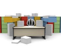 De Ogenblikken van het bureau - Eindeloze Administratie Stock Foto