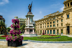 De Okendo Plaza in San Sebastian, Spain. Royalty Free Stock Photos