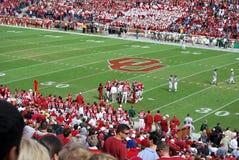 De Oklahoma futebol mais logo Foto de Stock Royalty Free