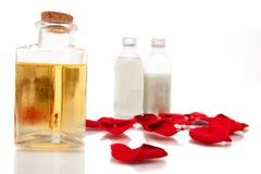 De oliën van Aromatherapy en lichaamslotions Stock Foto's