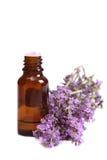 De olie en de lavendel van Aromatherapy Stock Afbeelding